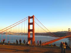 [Photo : Golden Gate Bridge, le pont rouge San Francisco]
