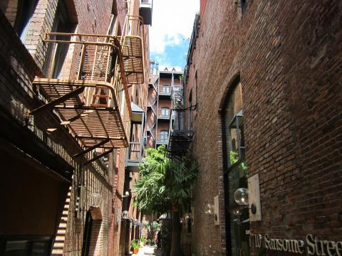 Photo  : maisons de briques du quartier historique de Jackson Square