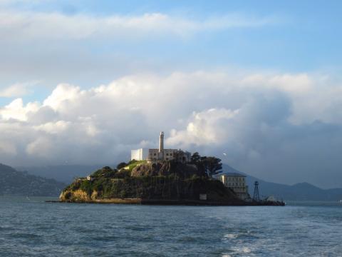Photos : Ile d'Alcatraz entre ciel et Baie de San Francisco
