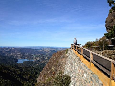 [Photo : Point de vue au Mount Tamalpais]