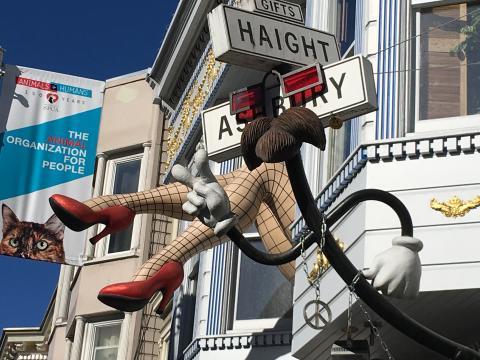 enseigne dans le quartier hippie de San Francisco