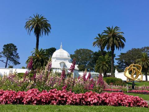 Conservatory of Flower dan le par du Golden Gate