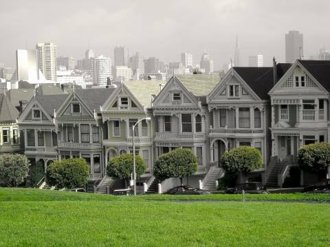 Photo : Painted Ladies Maison Victoriennes