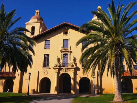 Photo : Old Union et palmiers à Stanford