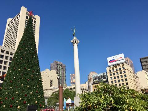 Union Square le paradis du shopping San Francisco