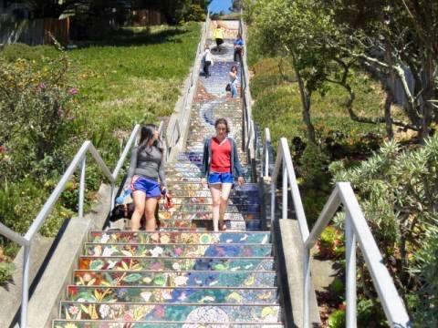 Photo :  Escaliers en mosaïques San Francisco
